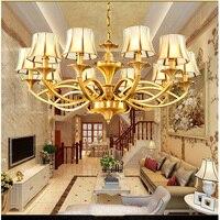 Retro copper chandeliers living room dining room chandelier lighting modern bedroom glass lamp pure copper vintage chandelier