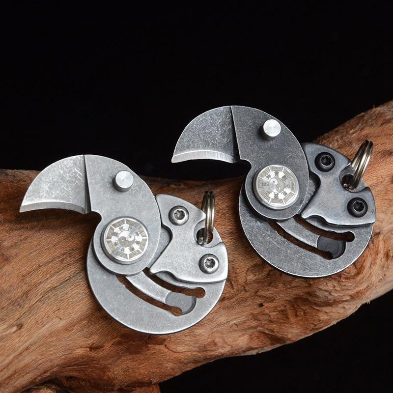 Новые предметы Мини Портативный вращающийся Монетный нож defensa личный Спорт на открытом воздухе кемпинг Самозащита Тактический безопасност...