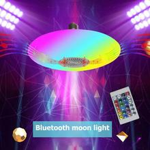 30W RGB Music Light Bulb Ceiling Lamp RC Colorful Home Decor Lamp