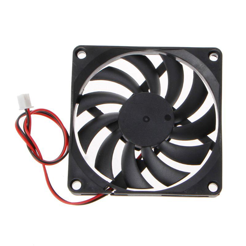 24V 2-Pin 80x80x10mm de la computadora de la PC CPU sistema disipador ventilador de refrigeración sin escobillas 8010
