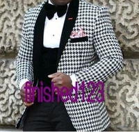 handsome mens suits groom tuxedos groomsmen wedding party dinner best man suits blazer jacketpantsvestbow tie no1503