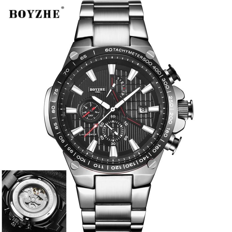 Maneira Automatische Mechanische Moda Casual Luxo Edelstahl Topo Marke Esporte Selbst Vento Uhren Relógio Masculino 2021nova Uhr
