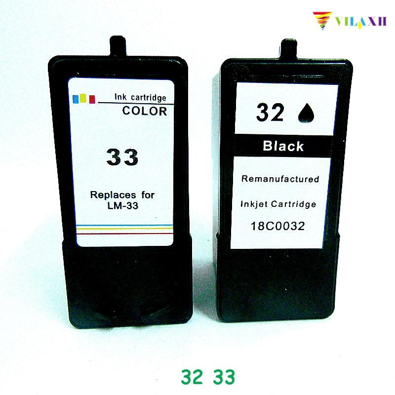 Vilaxh para Lexmark 32 33 cartucho de tinta para Lexmark Z800 Z805 Z810 Z812 X5410 X5450 X5470 X7300 X7350 X8310 X8350 serie