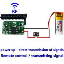 RF 433 MHz Uzaktan Kumanda Mikro verici Modülü Mini küçük 3.7 v 4.5 v 6 v 9 v 12 V pil gücü kablosuz anahtarı aksesuarları