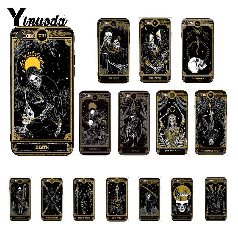 Yinuoda Tod Tarot Telefon Fall Shell für iphone SE 2020 6S 6plus 7 7plus 8 8Plus X Xs MAX 5 5S XR