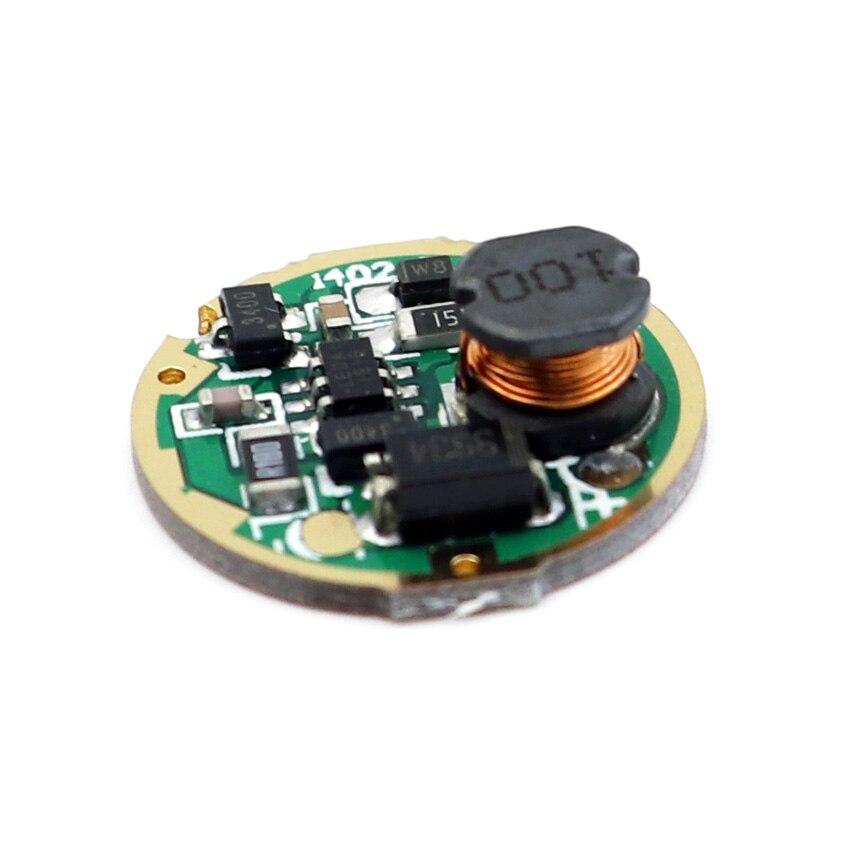 17mm 1 modo único 3 V-18 V placa de circuito de entrada para XM-L/XM-L2 T6 U2 U3 XP-L V5 alta potencia LED linterna antorcha lámpara