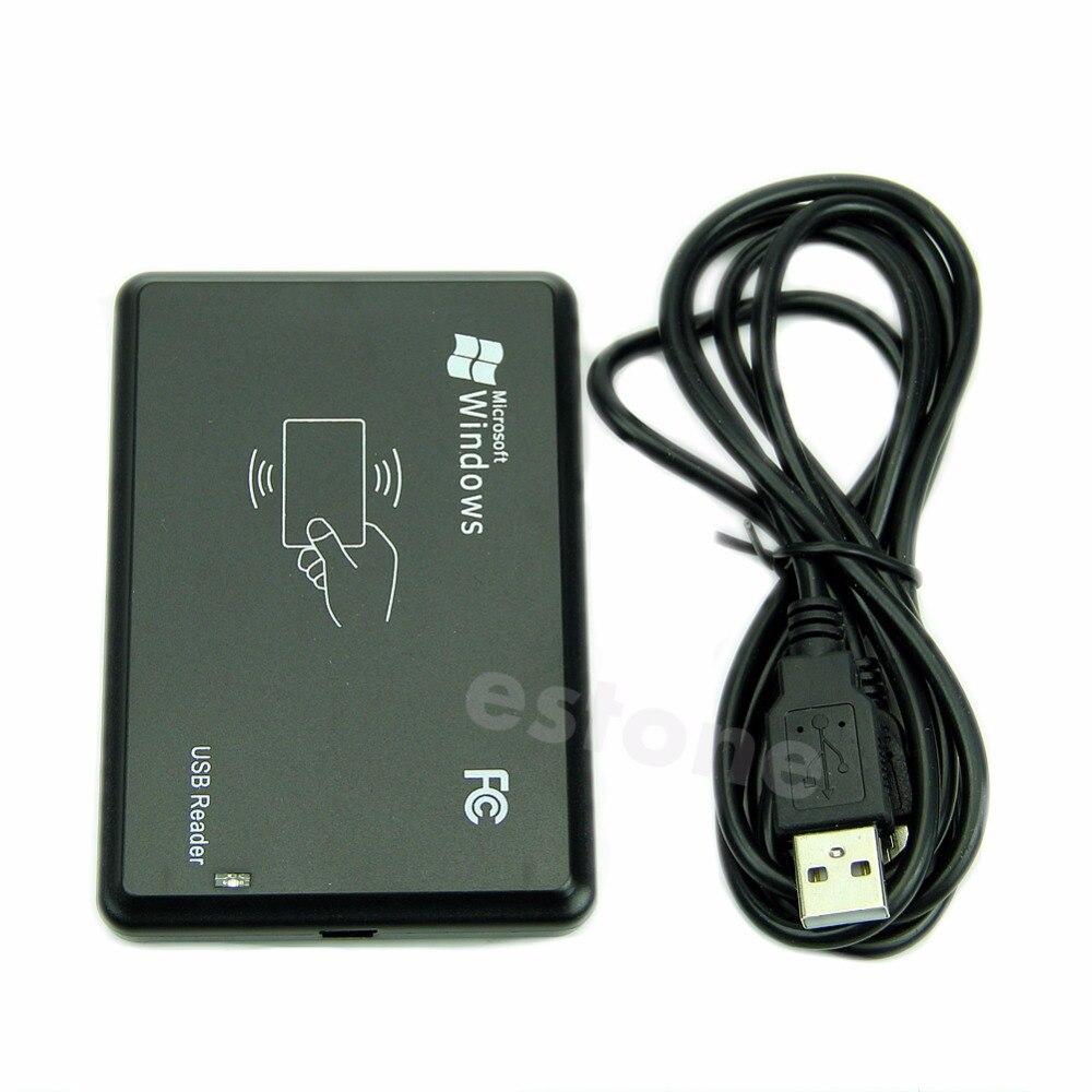 125Khz USB RFID Sensor de proximidad sin contacto lector de tarjetas de identificación inteligente EM4100