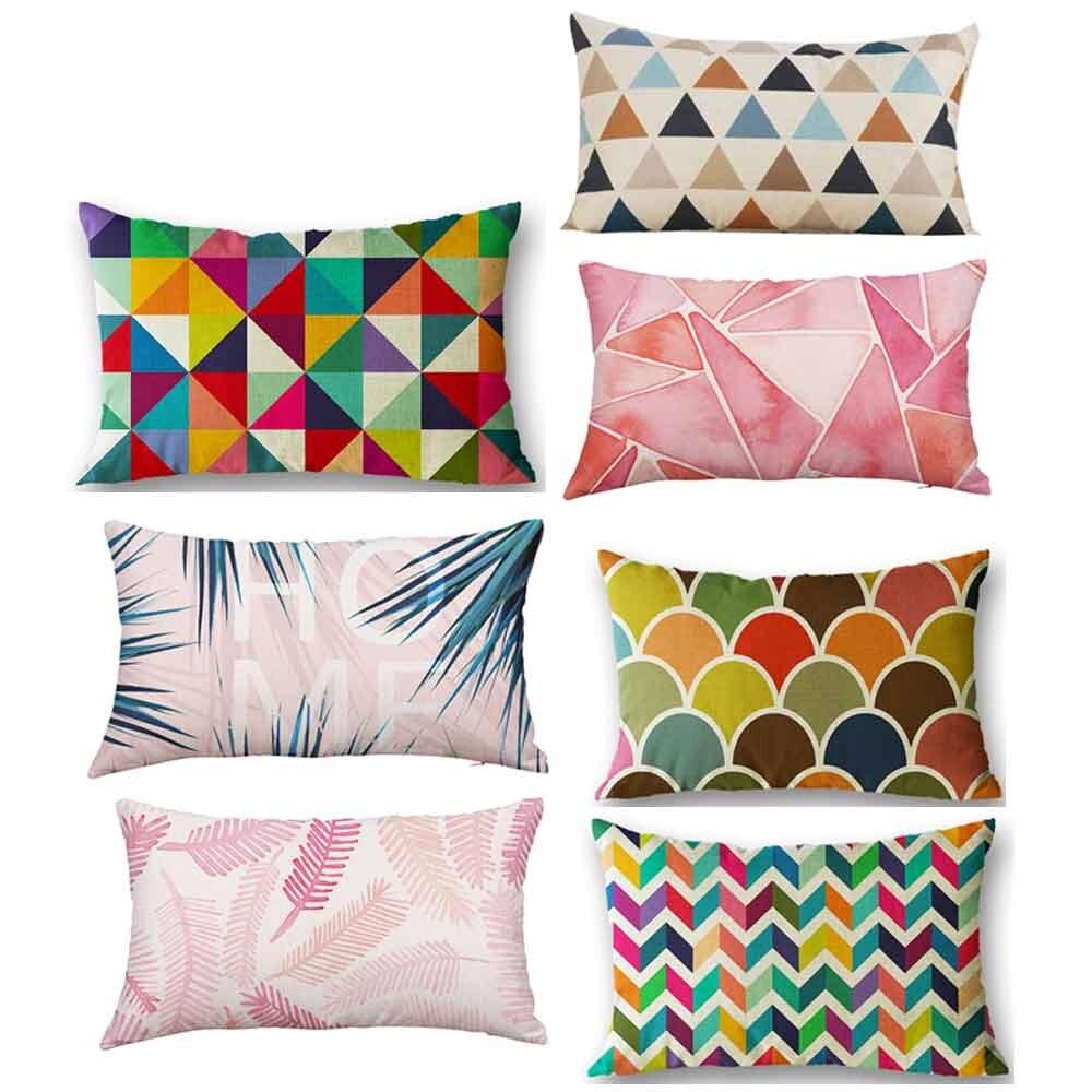 Pillow Case 30*50 Rectangle Soft Geometric Throw Pillows Covers Pillowcases Decorative Dekoratif Yastk #810