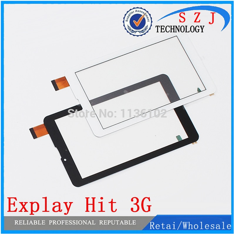 "Nuevo digitalizador de pantalla táctil 7 ""pulgadas Explay Hit tableta 3G panel táctil exterior Sensor de vidrio reemplazo envío gratis 10 unids/lote"