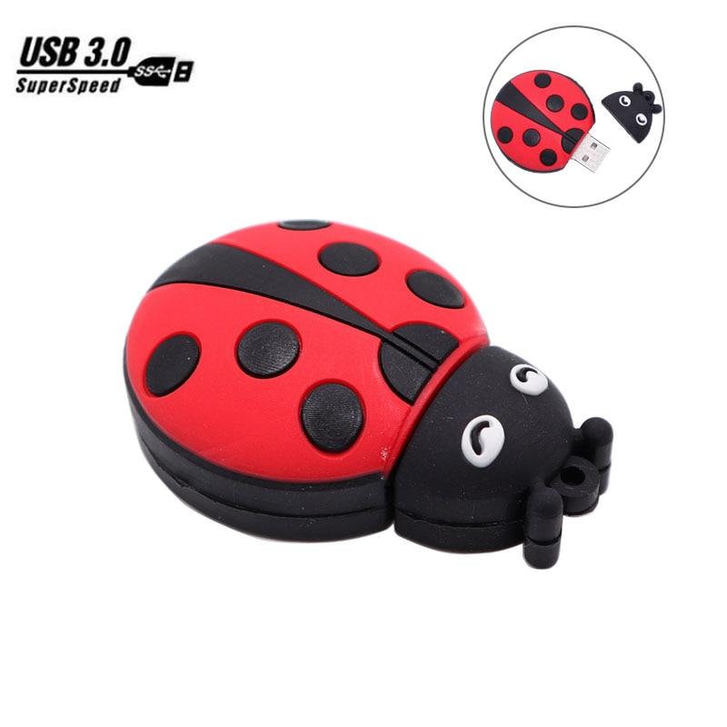 USB 3.0 pen drive 8GB 16GB 32GB 64GB cartoon Ladybug usb flash drive cute memory stick mini computer gift usb stick pendrive cle