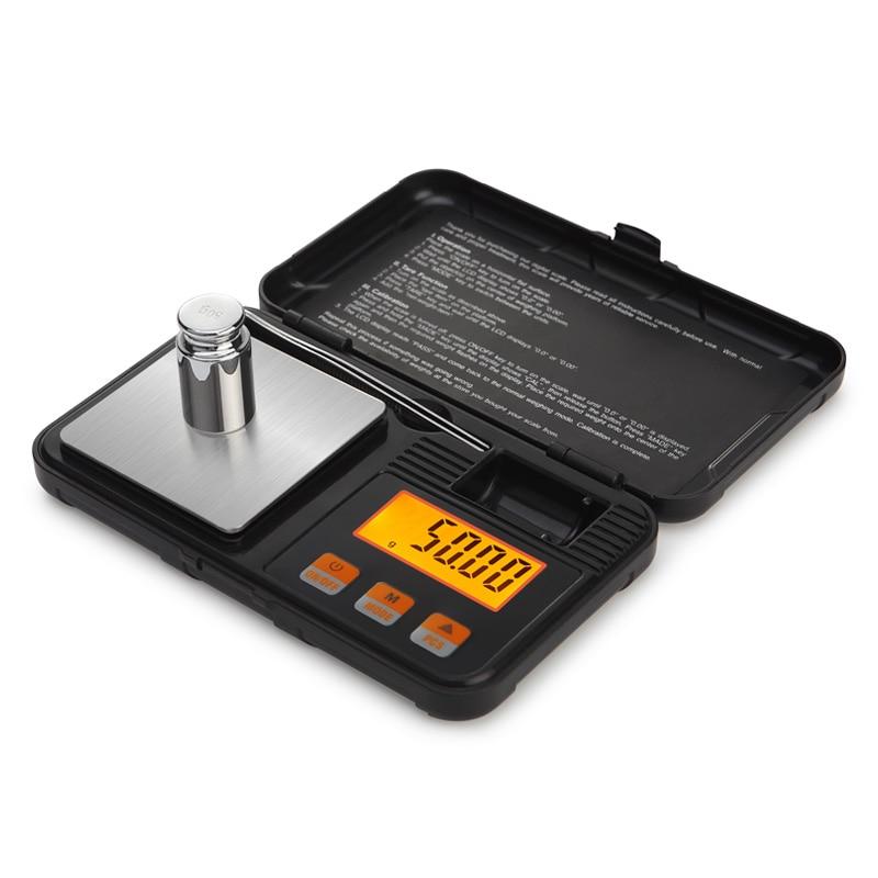 200g 0,01g Mini Präzision Digitale Waage für Gold Sterling Silber Schmuck gewicht Balance Mit 50g gewichte und pinzette