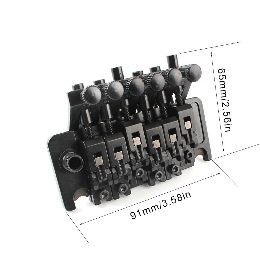 1 Set Black Tremolo Bridge Double Locking System Pulled Electric Guitar Strings Bridge Guitar Parts For Floyd Rose Lic I/banez enlarge