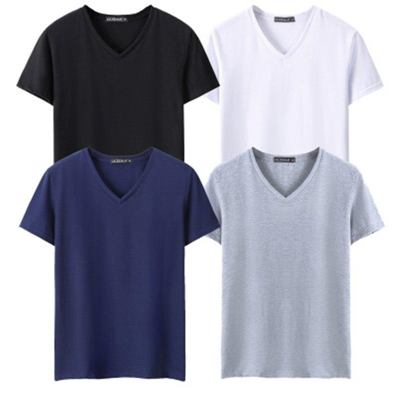 TEXIWAS 2019 4 Pcs einfarbig Baumwolle T Shirt Herren Schwarz Weiß T-shirts 2018 Sommer Skateboard T Boy Hip hop skate T-shirt Tops