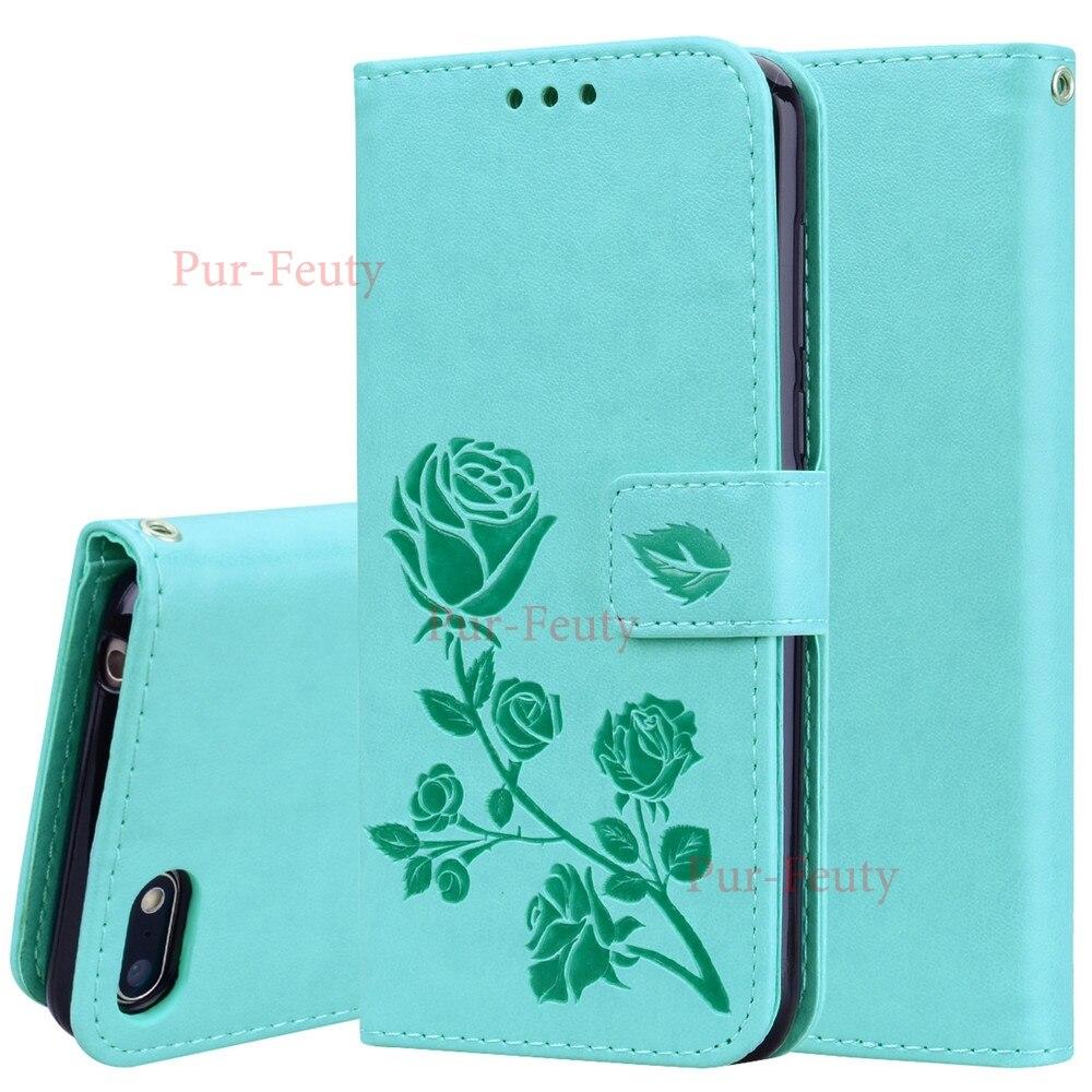 Funda para Huawei Honor 7A DUA-L22 DUA-LX2 Flip 5,45 pulgadas 3D Rosa flor patrón Cartera de cuero para Huawei Honor a7 7 DUA L22