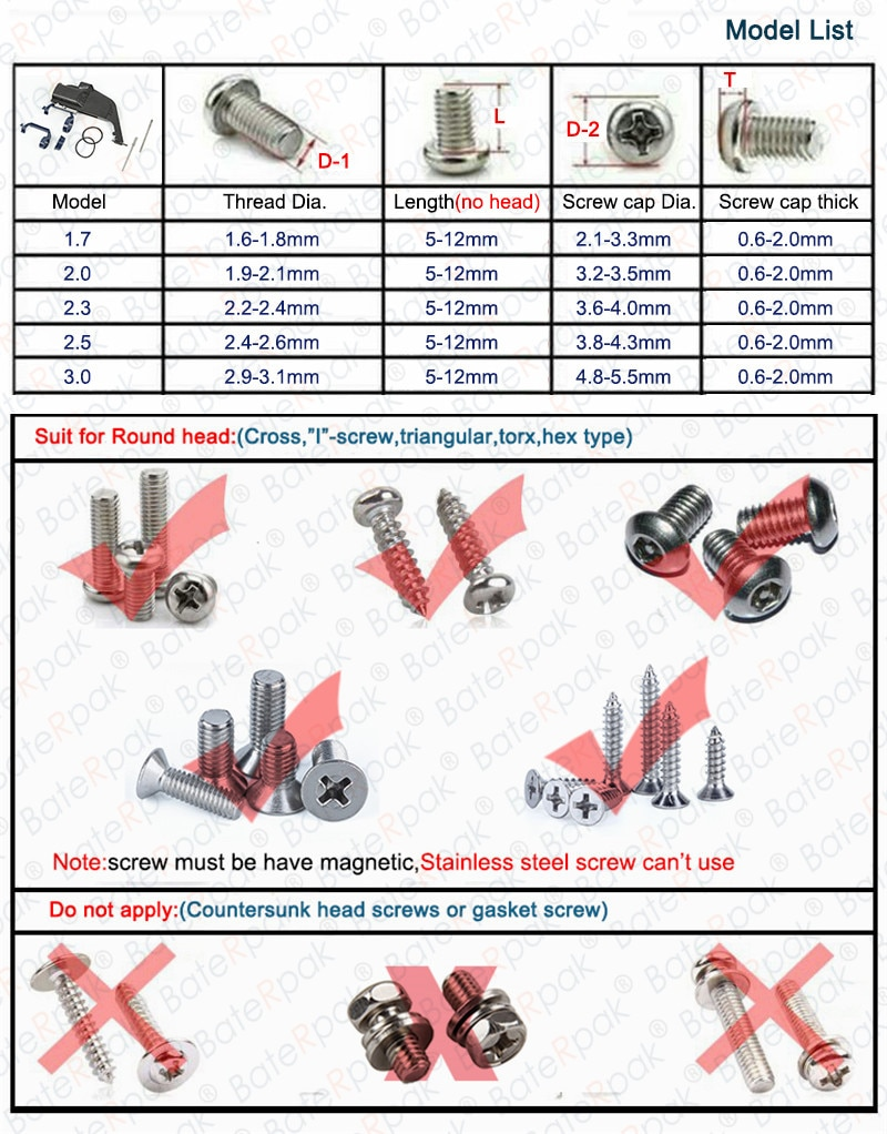 SG1.7/2.0/2.3/2.5/3.0 BateRpak Precision automatic screw feeder,high quality automatic screw dispenser, work with screwdriver enlarge