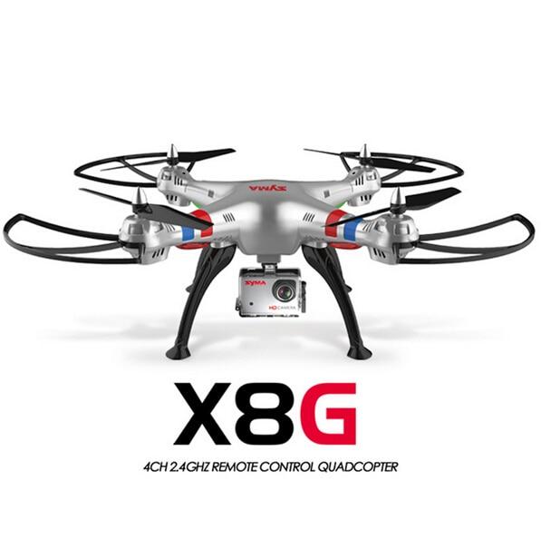 Original Syma X8G 2,4G 6 Axis Gyro 4CH RC Quadrocopter pieza sin cabeza modo profesional Drones con 5MP cámara hd