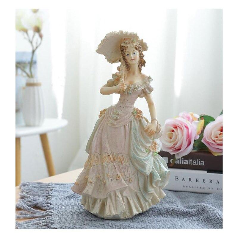 Estatua victoriana Europea personaje de moda figuritas de belleza resina regalo de boda artesanal decoración creativa del hogar adorno de arte
