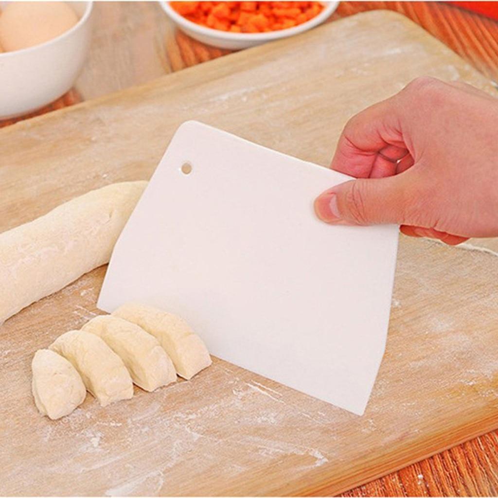 Nuestro aprecio 2 x raspador de pasteles de crema masa cortadores espátula para masa herramientas para hornear de corte o dividir dinero raspar el exceso de harina #605Y25