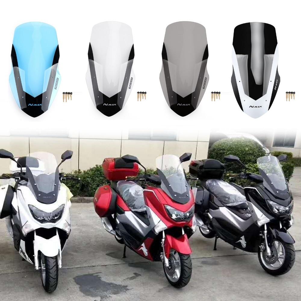 Areyourshop motocicleta pára-brisas defletor para yamaha 2016-2018 nmax155 nmax 155 abs plástico motor vento
