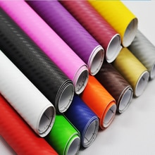 127*50cm 3D Carbon Fiber Car Sticker Change Color Film Waterproof Stickers DIY Decorate Accessories
