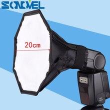 Mini diffuseur Flash Softbox 20cm boîte souple octogonale pour Canon Nikon YongNuo Speedlite 430EX 580EX II 600EX SB910 SB900 SB800 SB700