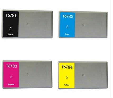 Einkshop 1 Set cartucho de tinta T6781-T6784 para Epson T6781 T6782 T6783 T6784 para Epson Pro WP-4011 WP-4511 WP-4521