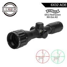 LUGER WALTHER 6x32 AO Mini rouge vert Mil-Dot réticule lumineux chasse lunette de visée tactique optique visée fusil à Air comprimé portée