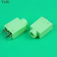 10pcs 3 5mm female audio connector 5 pin dip headphone jack socket pj 358 green