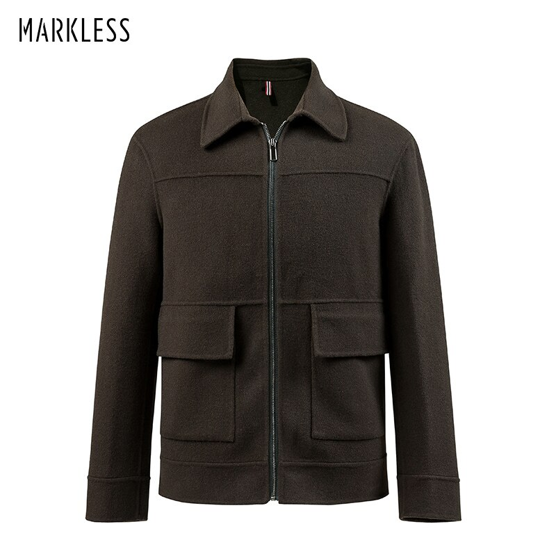 Chaquetas de lana Markless hombres chaqueta masculina 2018 invierno grueso cálido chaqueta de lana y abrigo Slim Fit Retro chaqueta hombre 8161