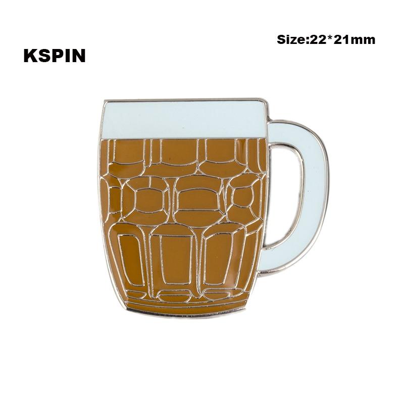 Insignia de copa de cerveza insignia pin broche iconos XY0067