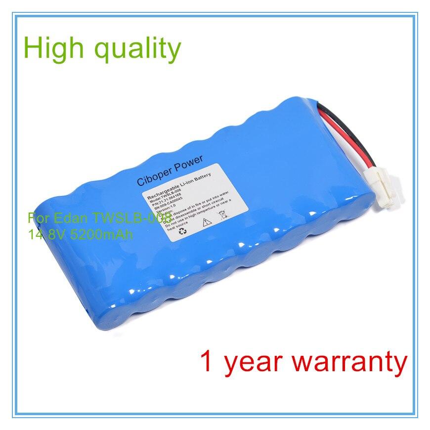 Reemplazo para Monitor de signos vitales Medical TWSLB-008, HYLB-1049, batería de máquinas M3 ECG