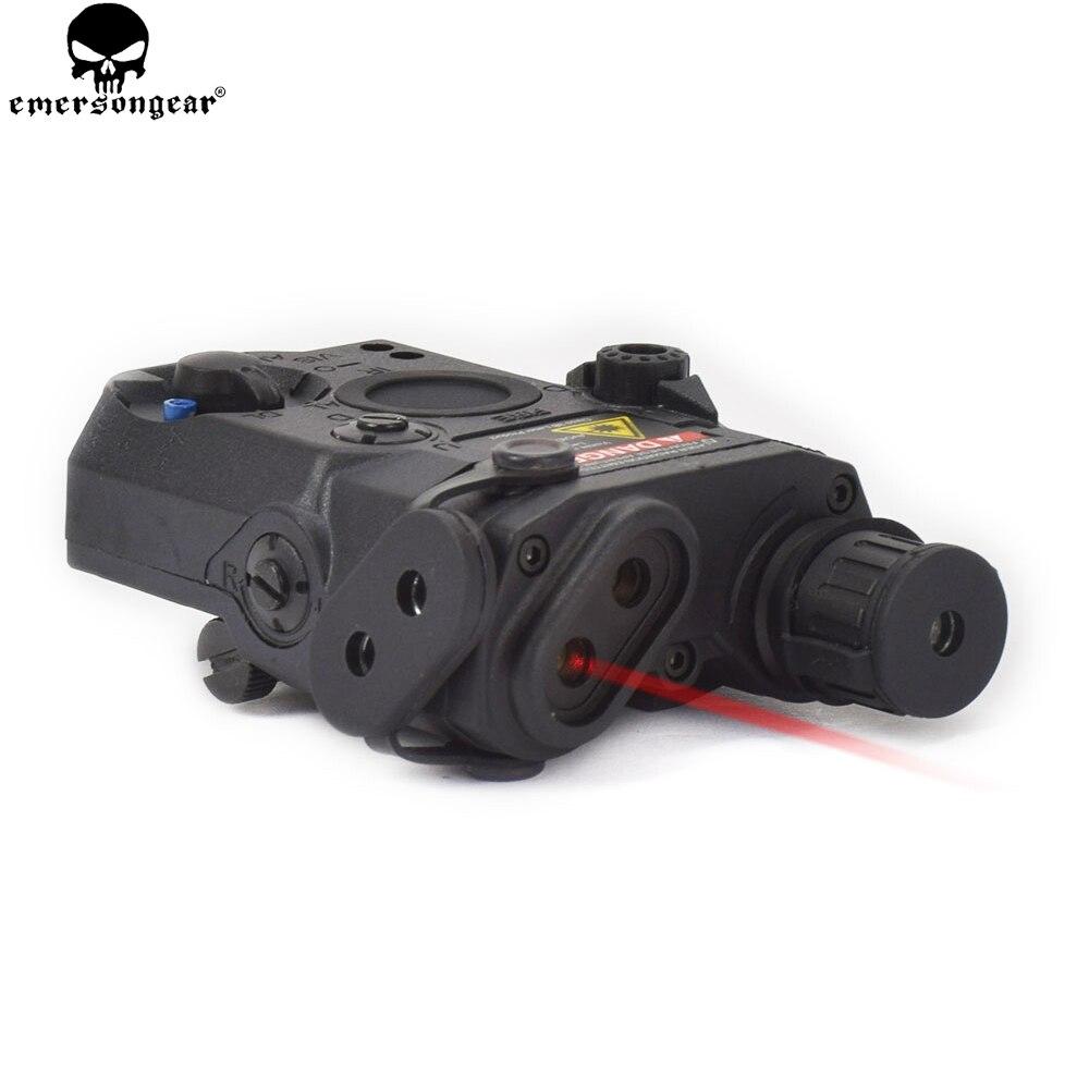 Dispositivo láser rojo EMERSONGEAR para tiro táctico a LA PEQ-15 linterna LED IR Len ATPIAL para airsoft AEG accesorios de caza
