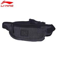 Li-ning unisex treinamento cintura poliéster clássico lazer peito pacote forro li ning saco de esportes ablm032 bjy036