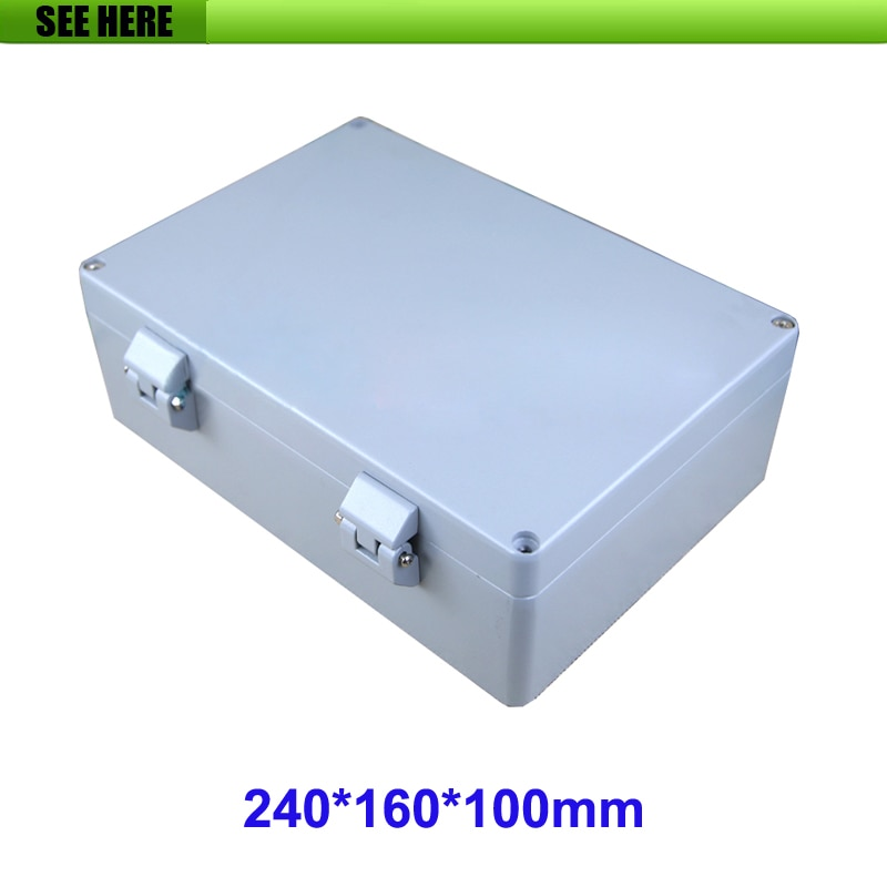 Aluminium IP66 Waterproof Junction Box DIY Outdoor Electrical Connection 240*160*100mm