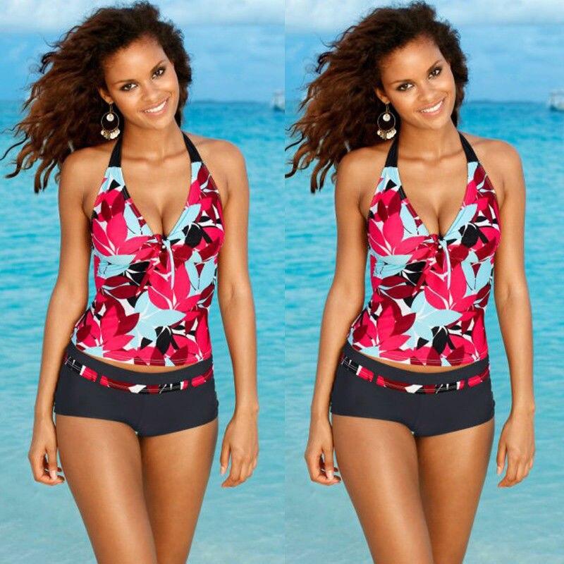 2017 hot sale mulheres stripes swimwear empurrar para cima tankini top bikinis maillot de bain maiô maiô plus size calções