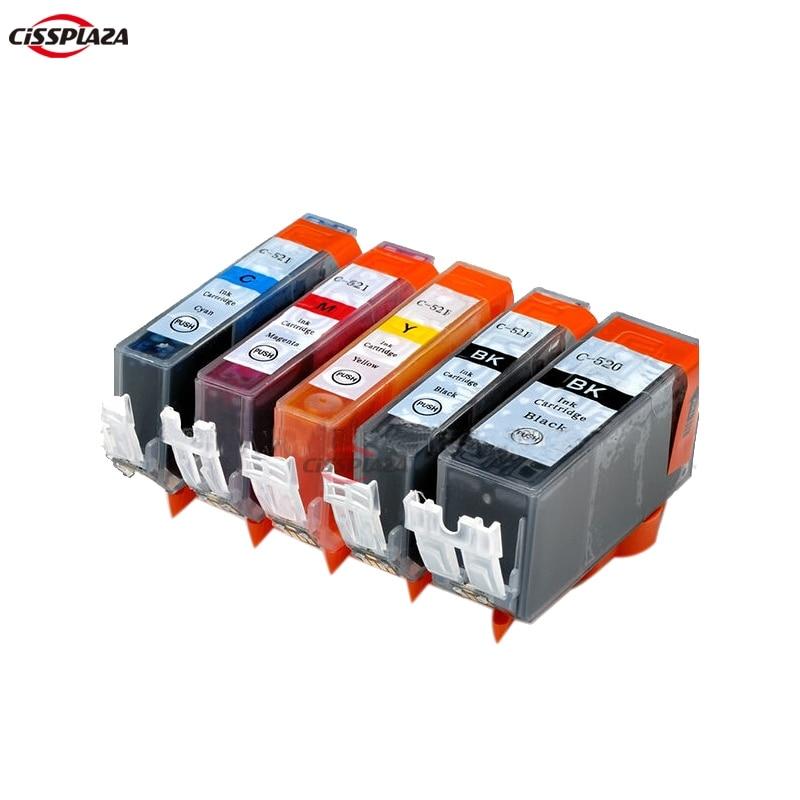 CISSPLAZA 5 x pgi520 чернильные картриджи для Pixma MP540 MP550 MP560 MP620 MP630 MP640 MP980 MP990 MX860 MX870 IP3600 IP4600 IP4700