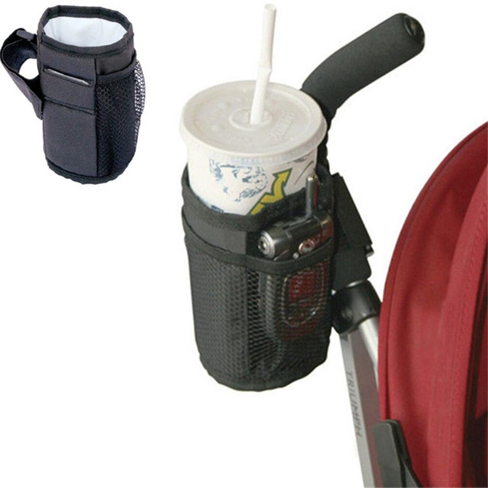 Soporte de taza aislante para cochecito portabotellas acoplable impermeable para la mayoría de las bicicletas bolsas de botellas universales para bebés #20