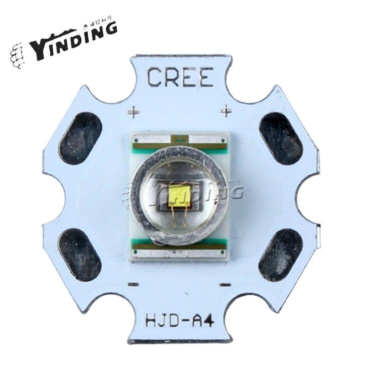 10 Uds 3W Cree XLamp XR-E XRE rojo 620-630NM alta potencia LED emisor Blub lámpara LED 20MM PCB disipador de calor
