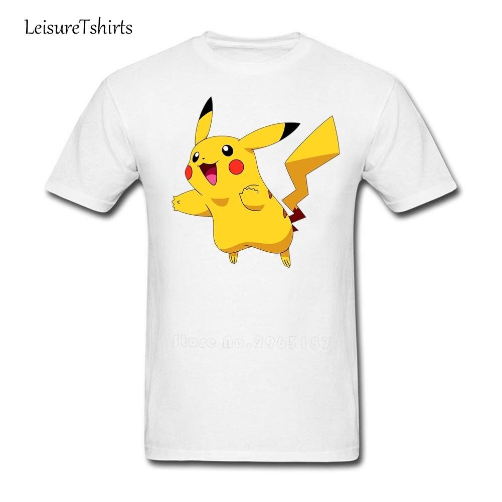 Camiseta Pokemon Pikachu de verano para hombre, 100% de algodón, camisetas baratas, ropa grande nueva para adultos, camisetas holgadas de ejercicio