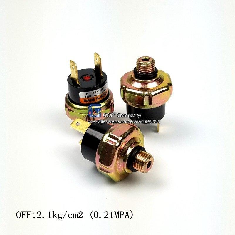 3/8-24 unf masculino binário universal sensor de interruptor de pressão lateral baixa rosca r134a r12 de 9mm