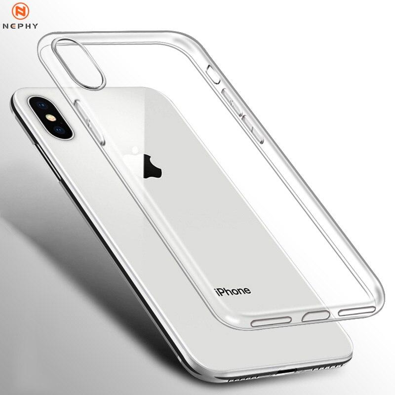 Прозрачный силиконовый мягкий чехол для iPhone XS Max XR X 11 pro Coque 7 8 Plus 6 S 6 S 4 4S 5 5S 5SE 6Plus 7Plus 8 Plus, задняя крышка из ТПУ Etui