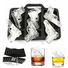 Ледяной кубик, сделай сам, креативный пистолет, пуля, форма черепа, поднос, шоколадная форма, домашний бар, вечерние, крутой виски, вино, мороженое, бар, инструмент