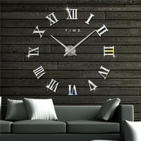 אולם גדול קיר שעון שעון קיר גדול אישית 3D DIY שעון אקריליק מראה קיר מדבקת קוורץ מודרני עיצוב הבית