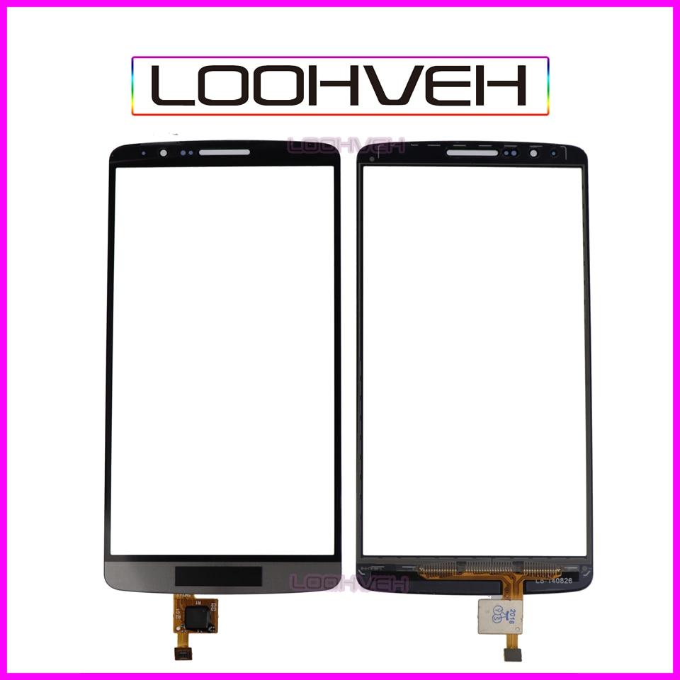 """10 pçs/lote 5.5 """"Tela Sensível Ao Toque Para LG G3 D850 D855 D858 Digitador Frente Lente de Vidro Painel Sensor de Alta Qualidade"""