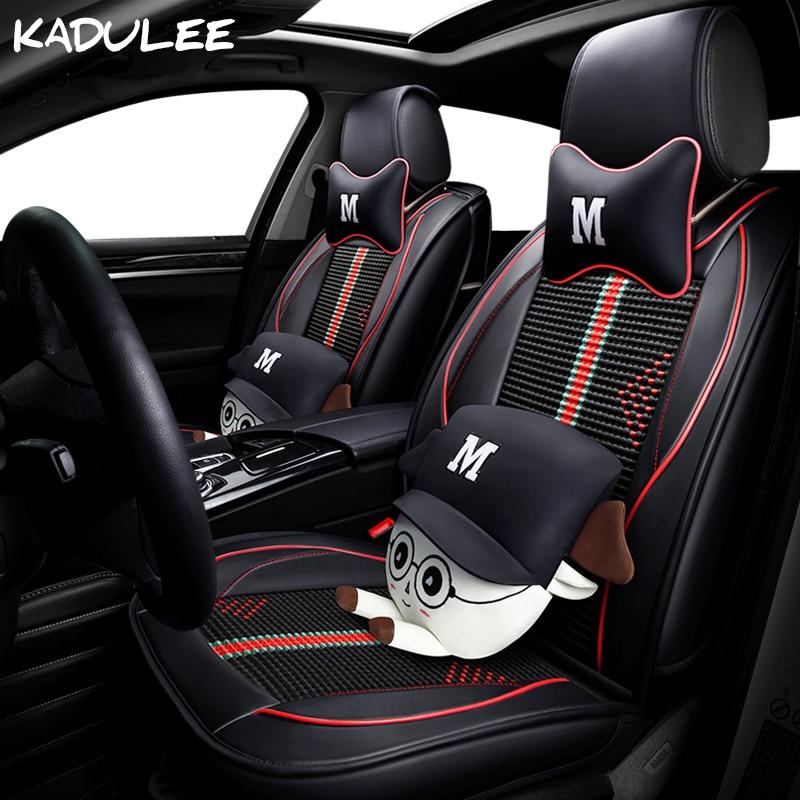 KADULEE de seda de hielo cubierta de asiento de coche para toyota land cruiser verso matiz daewoo kia Optima vw passat b8 auto accesorios coches-estilo