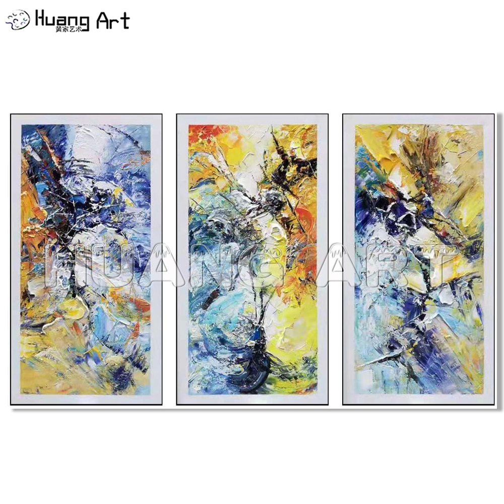 Pintado à Mão Pintura da Lona para o Quarto Pintura a Óleo da Arte da Textura da Parede Pintor Profissional Acrílico Decoração Moderna Abstrata Faca
