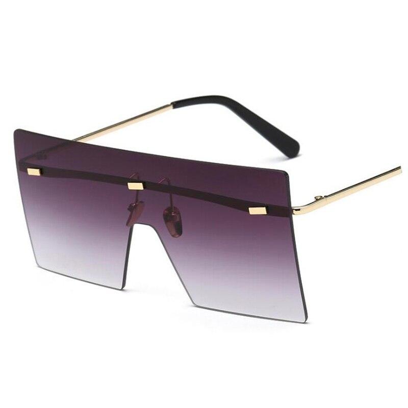 Gafas de sol de diseño de nueva marca Unisex sin montura estilo futuro escudo cuadrado fresco de alta calidad 2018