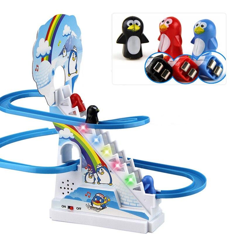 Пазл с пингвином, Электрический Радиоуправляемый автомобиль с музыкой, музыкальные игрушки, альпинистские лестницы, игрушки для родителей и детей, детская игрушка для общения