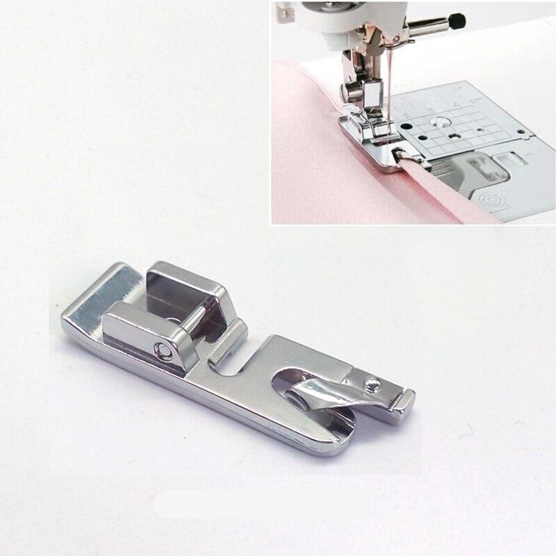 Piezas de máquina de coser con dobladillo enrollado estrecho de 3mm, accesorios prensatelas, se adapta a todos los botones de caña baja Singer *, Brother, Janome