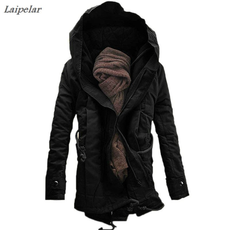 autumn winter mens wool liner long hooded parka warm printed thick coat casual size m xxxxxl t188 Brand Fashion winter Parka for men Thick Warm zipper Jacket Autumn Outerwear hooded Black military Coat mens long jackets